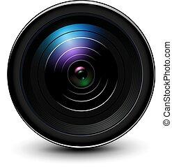 レンズ, カメラ, 3d, 写真, アイコン