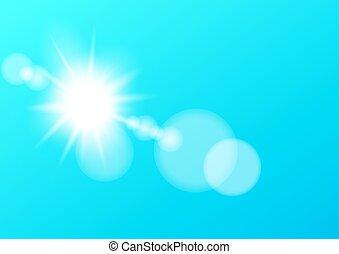 レンズ, 太陽, bokeh, ライト