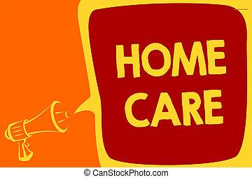 レンダリングした, 人々, テキスト, 概念, 家, メッセージ, 最も良く, から, 拡声器, サービス, 快適さ, スピーチ, メガホン, 泡, 話すこと, loud., 得なさい, 意味, 重要, care., 場所, 缶, 手書き, どこ(で・に)か