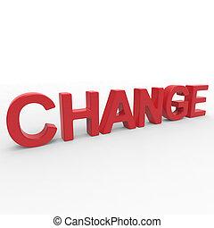 レンダリング, -, 変化しなさい, 単語, 3d