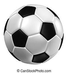 レンダリング, ), (, 手ざわり, 革, サッカー, ball., 3d