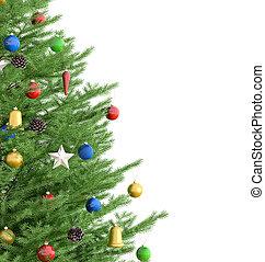 レンダリング, 木, クリスマス, 3d