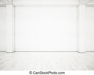 レンダリング, 白, interior., オフィス, 3d