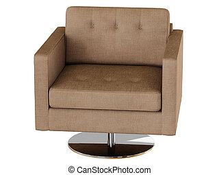 レンダリング, 肘掛け椅子, 3d, 生地