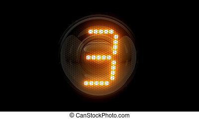 レンダリング, 表示器, 3, ガス, digit., lamps., 解任, ディジット, three., 3d., 3d, nixie, チューブ, 表示器