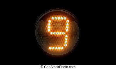 レンダリング, 表示器, 9., ガス, digit., lamps., 解任, ディジット, 3d., 3d, nixie, チューブ, 表示器, nine.