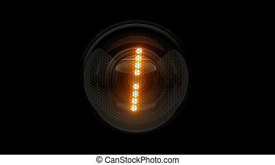 レンダリング, 表示器, lamps., ガス, digit., 解任, ディジット, 3d., 3d, nixie, チューブ, 表示器, 1., one.