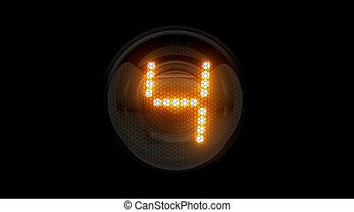レンダリング, 表示器, lamps., ガス, four., digit., 解任, 4., ディジット, 3d., 3d, nixie, チューブ, 表示器