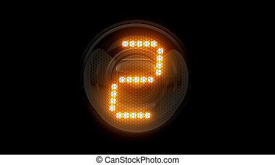 レンダリング, 表示器, lamps., two., digit., ガス, 解任, ディジット, 3d., 3d, nixie, チューブ, 表示器, 2.