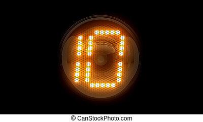 レンダリング, 表示器, ten., ガス, digit., lamps., 10., 解任, ディジット, 3d., 3d, nixie, チューブ, 表示器