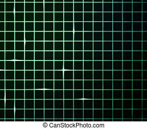 レーザー, 格子, 緑の背景, ライト