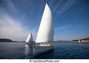 レース, ヨット, 航海