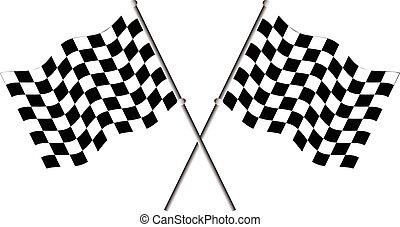 レース, 旗