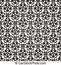 レース, pattern., seamless, バックグラウンド。, ベクトル, 花