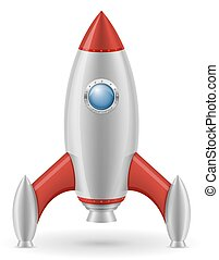 ロケット, スペースイラスト, ベクトル, レトロ, 宇宙船