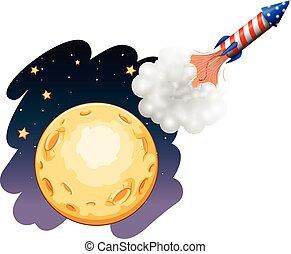 ロケット, 月