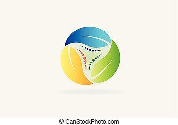 ロゴをリサイクルしなさい, エコロジー, leafs