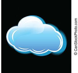 ロゴ, アイコン, ベクトル, 雲, 適用