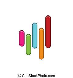 ロゴ, アイコン, 接続, デザイン