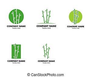 ロゴ, アイコン, 竹, ベクトル, テンプレート, デザインを設定しなさい, イラスト