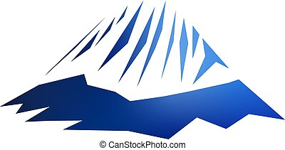 ロゴ, イメージ, 山