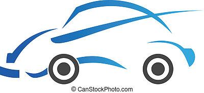 ロゴ, イメージ, 自動車, 型