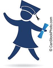 ロゴ, イメージ, 証明書, 卒業生