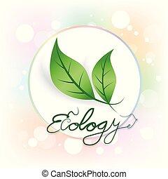 ロゴ, エコロジー, leafs