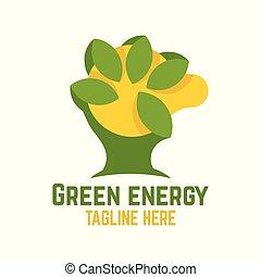 ロゴ, エネルギー, 緑