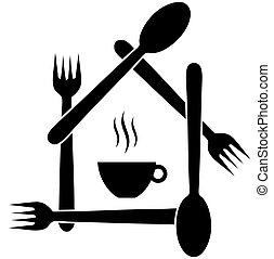ロゴ, カフェ, ∥あるいは∥, レストラン