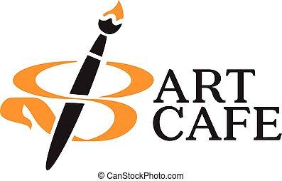ロゴ, カフェ, 芸術