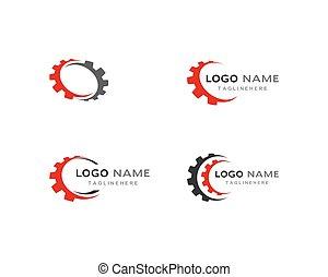 ロゴ, ギヤ, テンプレート