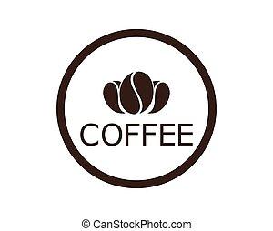 ロゴ, コーヒー, テンプレート