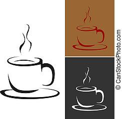 ロゴ, コーヒー, ベクトル