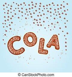 ロゴ, コーラ, デザイン, 手紙, 3d