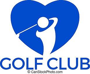 ロゴ, ゴルフ, design.