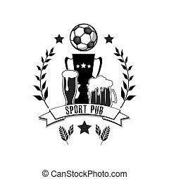 ロゴ, サッカー, スポーツ, pub