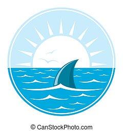 ロゴ, サメ, イラスト