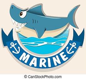 ロゴ, サメ, 海洋