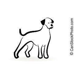 ロゴ, シルエット, 犬
