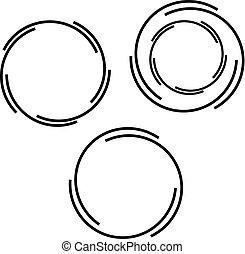 ロゴ, シンボル, ベクトル, 円形にされる