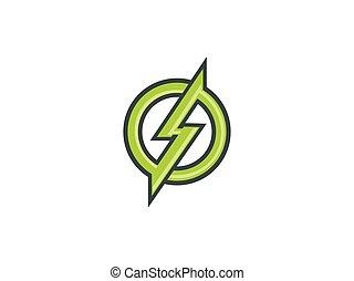 ロゴ, シンボル, ベクトル, 電気である, アイコン