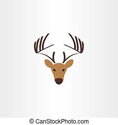 ロゴ, シンボル, ベクトル, 鹿, アイコン