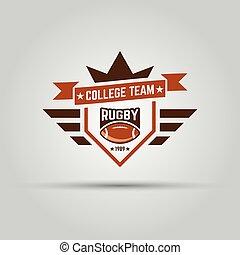 ロゴ, スポーツ, 大学, ラグビー, チーム
