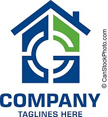 ロゴ, ターゲット, 手紙g, 家