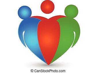 ロゴ, チームワーク, パートナー, ビジネス
