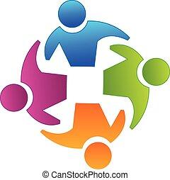 ロゴ, チームワーク, パートナー
