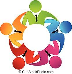 ロゴ, チームワーク, ビジネスエグゼクティブ