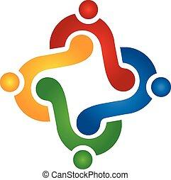 ロゴ, チームワーク, 解決