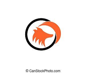 ロゴ, テンプレート, キツネ, アイコン